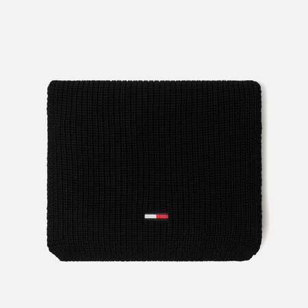 Шарф Tommy Jeans Basic Rib Black