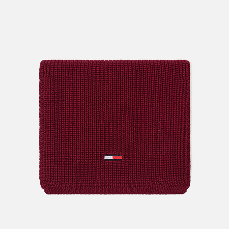 Шарф Tommy Jeans Basic Rib Rumba Red