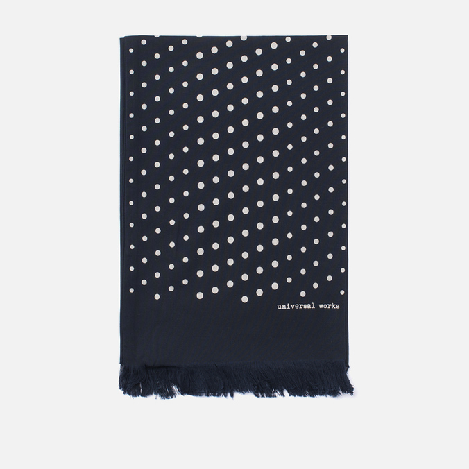 Шарф Universal Works Short Dot Rayon Navy