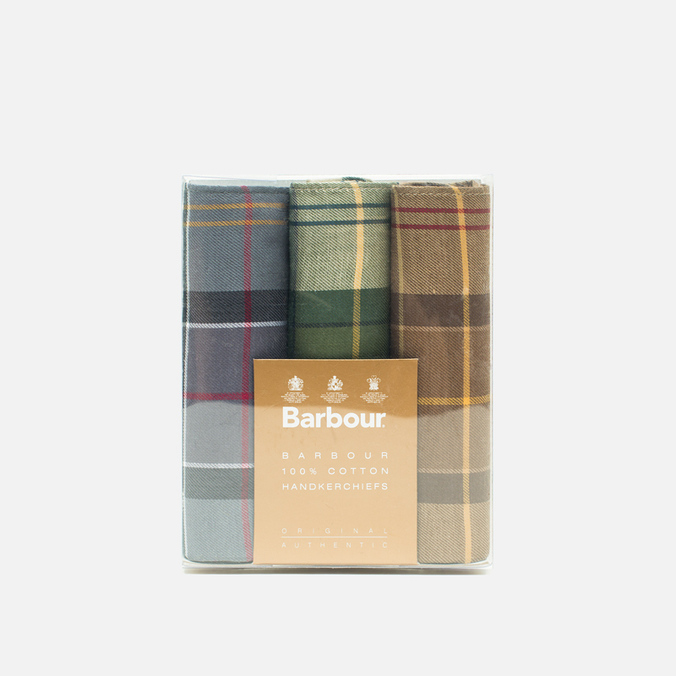 Набор платков Barbour Assorted Tartan Cotton 3 pcs Multicolor