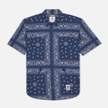Мужская рубашка adidas Originals x Neighborhood Bandanna Sh Blue фото- 0