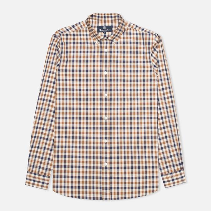 Мужская рубашка Aquascutum Devonshire Club Check Vicuna