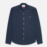 Мужская рубашка Barbour Charles Oxford Navy фото- 0