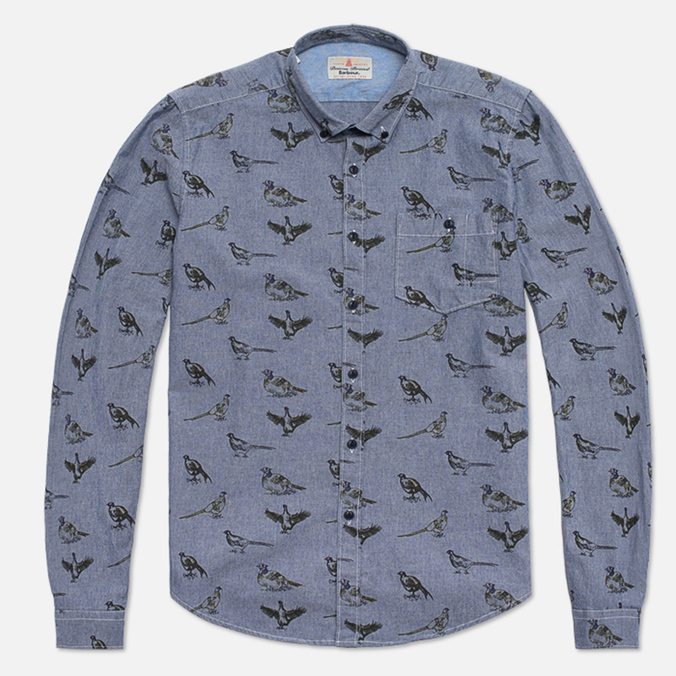 Мужская рубашка Barbour Gamefowl Indigo