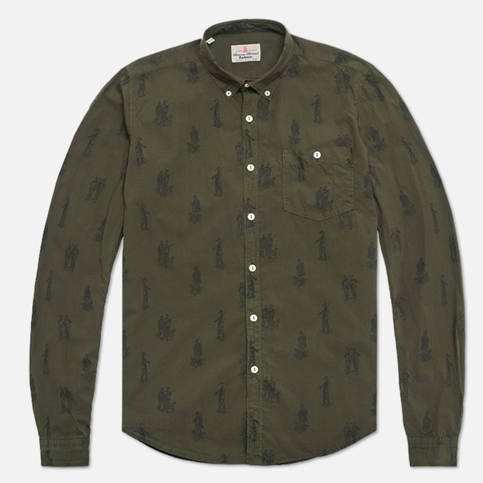 Мужская рубашка Barbour Gone Hunting Mid Olive