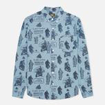 Мужская рубашка Barbour International Turbo Chambray Blue фото- 0