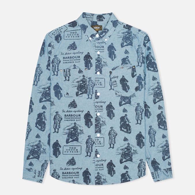 Barbour International Turbo Chambray Men's Shirt Blue