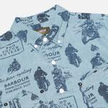 Barbour International Turbo Chambray Men's Shirt Blue photo- 1