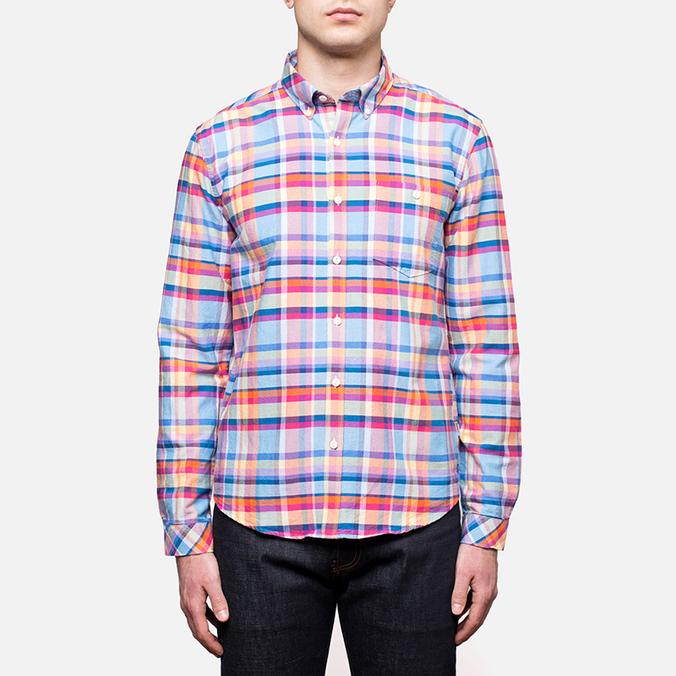 Мужская рубашка Barbour Net Aqua