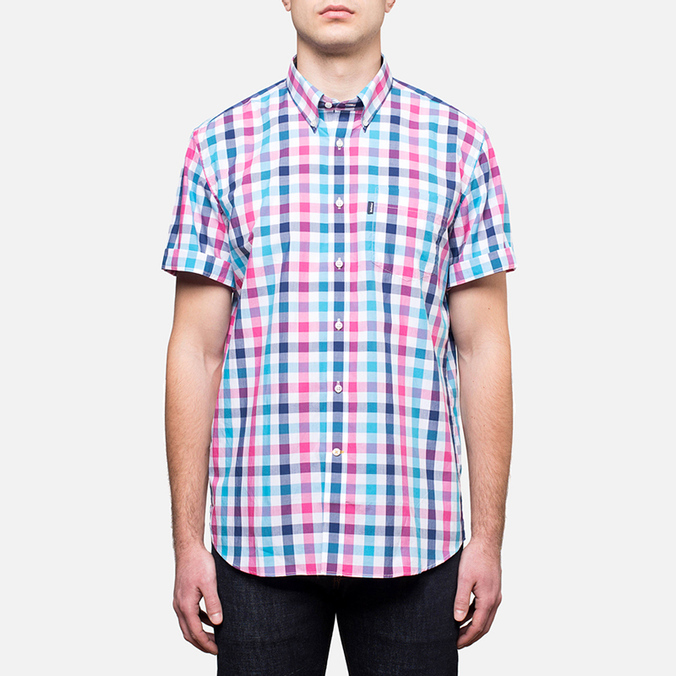 Мужская рубашка Barbour Windermere Short Sleeve Candy