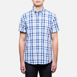 Мужская рубашка Barbour Windermere Short Sleeve Navy фото- 0