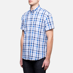 Мужская рубашка Barbour Windermere Short Sleeve Navy фото- 1