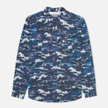 Мужская рубашка Barbour x White Mountaineering Wave Print Blue фото- 0