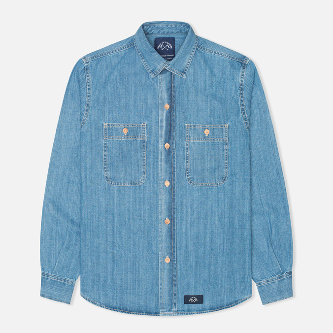 Мужская рубашка Bleu De Paname Chemise Bureau Denim Bleached