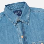 Мужская рубашка Bleu De Paname Chemise Bureau Denim Bleached фото- 1