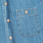 Мужская рубашка Bleu De Paname Chemise Bureau Denim Bleached фото- 2