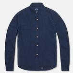 Рубашка мужская Bleu De Paname Standart Indigo фото- 0