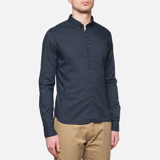 C.P. Company Long Sleeve Embossed Cotton Navy