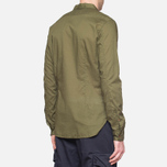 C.P. Company Long Sleeve Embossed Cotton Olive photo- 2