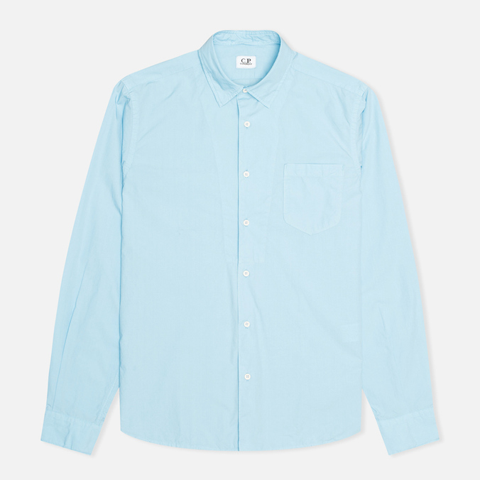 Мужская рубашка C.P. Company Old Dyed Poplin Light Blue