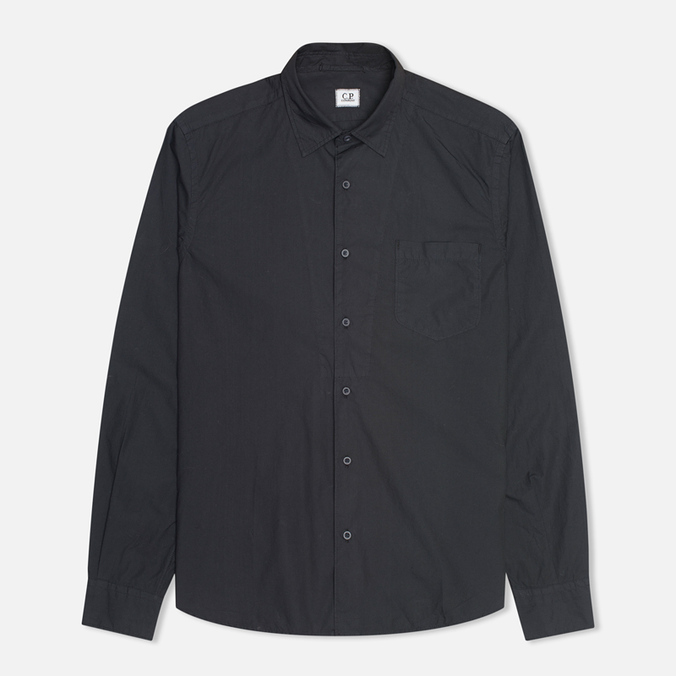 Мужская рубашка C.P. Company Old Dyed Poplin Navy