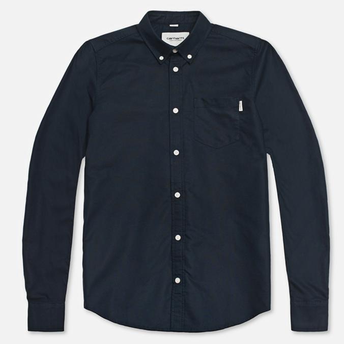 Мужская рубашка Carhartt WIP Buck Cadet Rinsed