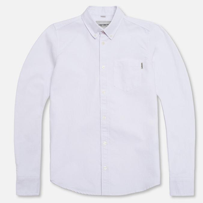 Мужская рубашка Carhartt WIP Buck White Rinsed