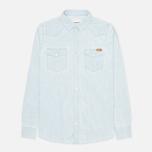 Мужская рубашка Carhartt WIP Kansas Blue Stone Bleached фото- 0