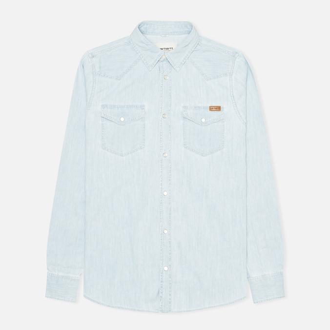 Мужская рубашка Carhartt WIP Kansas Blue Stone Bleached