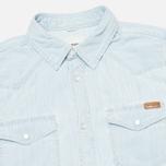 Мужская рубашка Carhartt WIP Kansas Blue Stone Bleached фото- 1