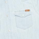 Мужская рубашка Carhartt WIP Kansas Blue Stone Bleached фото- 2