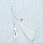 Мужская рубашка Carhartt WIP Kansas Blue Stone Bleached фото- 3
