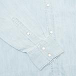 Мужская рубашка Carhartt WIP Kansas Blue Stone Bleached фото- 4