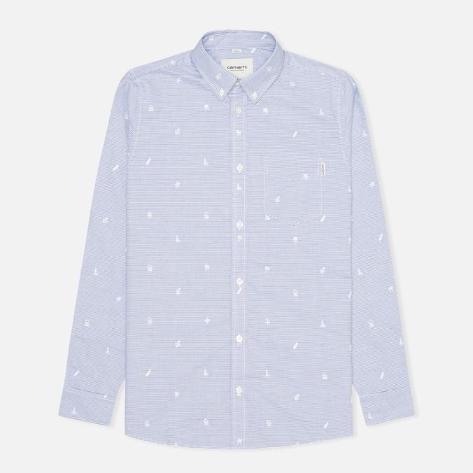 Carhartt WIP Orton Jacquard Men's Shirt White/Resolution