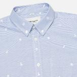 Carhartt WIP Orton Jacquard Men's Shirt White/Resolution photo- 1