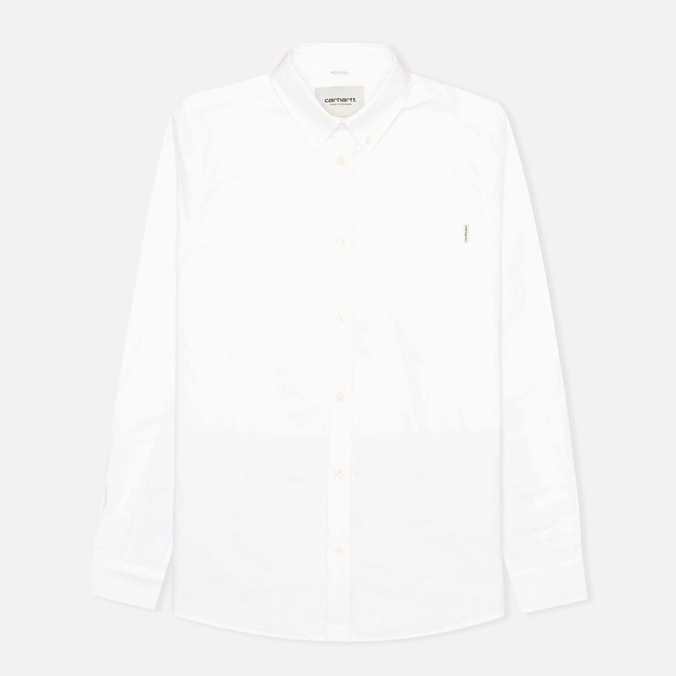Мужская рубашка Carhartt WIP Porter Oxford White/Resolution