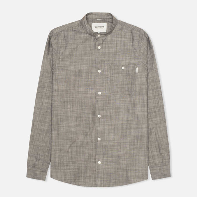 Carhartt WIP Robert Yarn Chambray Men's Shirt Black Rinsed