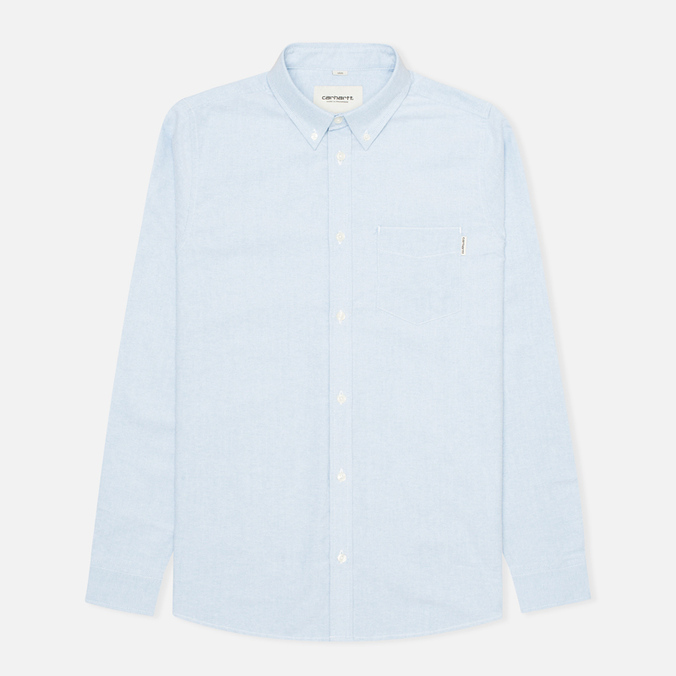 Мужская рубашка Carhartt WIP Rogers Oxford Columbia