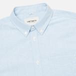 Мужская рубашка Carhartt WIP Rogers Oxford Columbia фото- 1