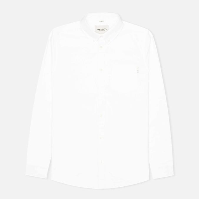 Мужская рубашка Carhartt WIP Rogers Oxford White