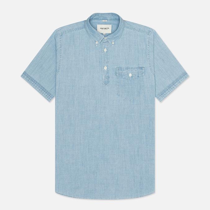 Мужская рубашка Carhartt WIP Roy Chambray Indigo Bleached