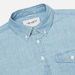 Мужская рубашка Carhartt WIP Roy Chambray Indigo Bleached фото- 1