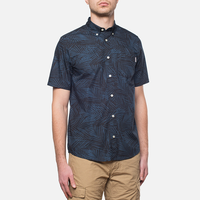 Мужская рубашка Carhartt WIP Short Sleeve Cayman Dark Blue