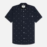 Мужская рубашка Carhartt WIP SS Economy Duke Blue/White фото- 0