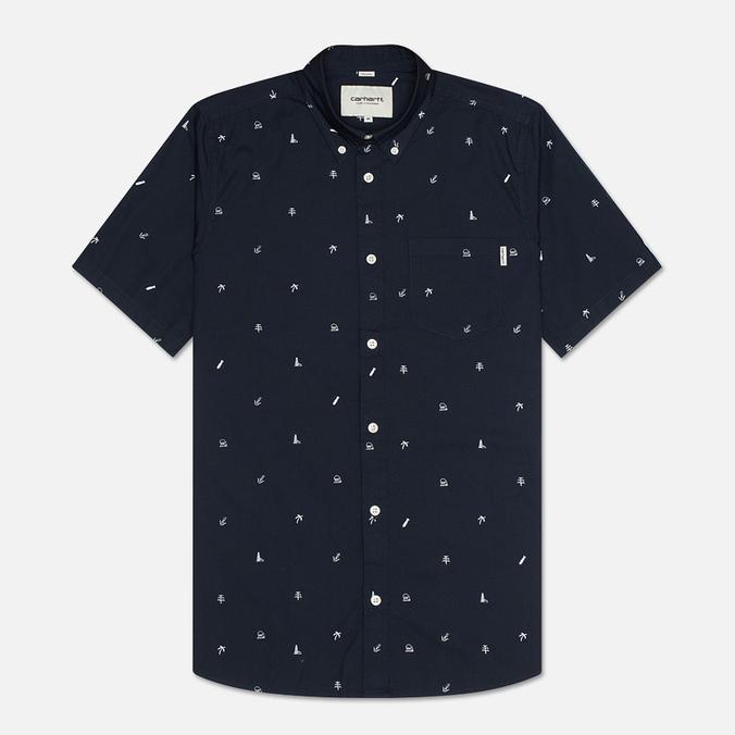 Мужская рубашка Carhartt WIP SS Economy Duke Blue/White