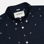Мужская рубашка Carhartt WIP SS Economy Duke Blue/White фото- 1