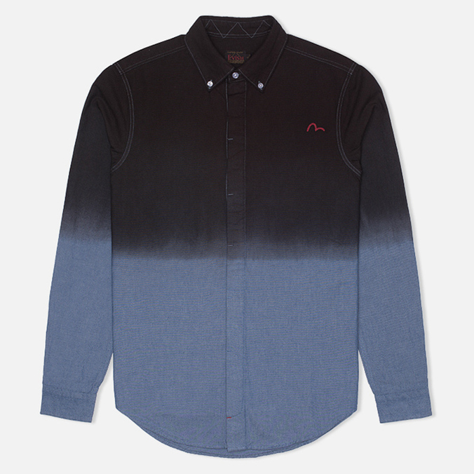 Мужская рубашка Evisu Garment Wash Chambray Black/Blue
