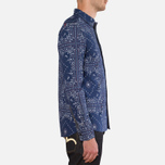 Мужская рубашка Evisu Genes Long Sleeve Bandana Shirt White/Indigo фото- 1