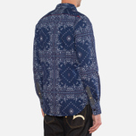 Мужская рубашка Evisu Long Sleeve Bandana Shirt White/Indigo фото- 2