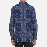 Мужская рубашка Evisu Genes Long Sleeve Bandana Shirt White/Indigo фото- 3